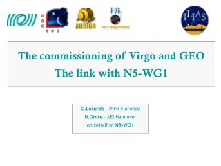 The commissioning of Virgo and GEO The link with N5-WG1
