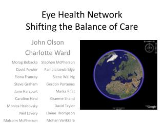 Eye Health Network  Shifting the Balance of Care