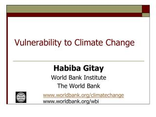 Vulnerability to Climate Change