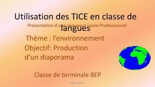 Utilisation des TICE en classe de langues