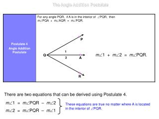 m  1  +   m 2  =   m PQR.