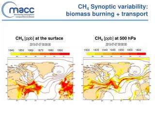 CH 4  Synoptic variability:  biomass burning + transport