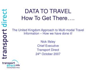 DATA TO TRAVEL How To Get There….