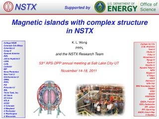 Magnetic islands with complex structure  in NSTX