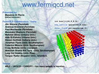 int box[]={24,8,8,8}; mdp_lattice  spacetime(4,box); fermi_field  phi(spacetime,3);