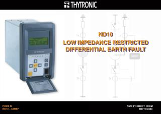 ND10 LOW IMPEDANCE RESTRICTED DIFFERENTIAL EARTH FAULT