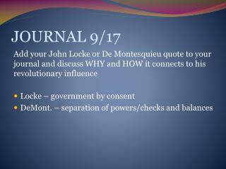 JOURNAL 9/17