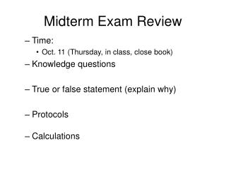 midterm exam review Midterm exam the fall 2017 sign-up period for the midterm exams was from october 17th, 2017 through october 30th, 2017 hostos community.