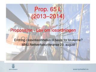 Prop . 65 L (2013–2014)