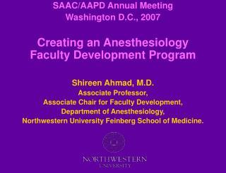 SAAC/AAPD Annual Meeting Washington D.C., 2007
