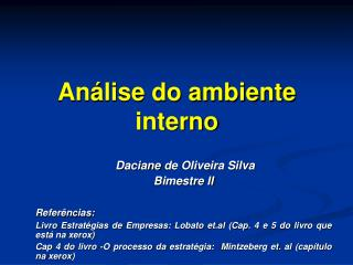 An lise do ambiente interno