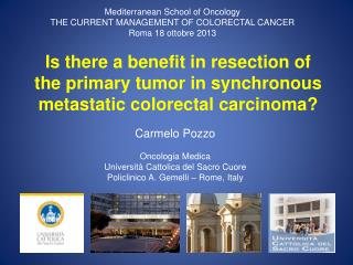 Is there a benefit in resection of the primary tumor in synchronous