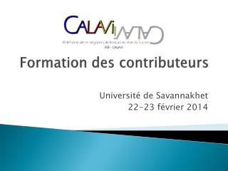 Formation des contributeurs
