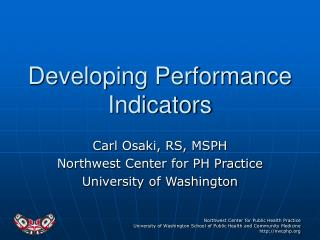 Developing Performance Indicators