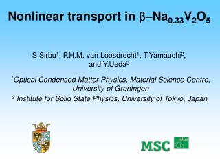 Nonlinear transport in   Na 0.33 V 2 O 5