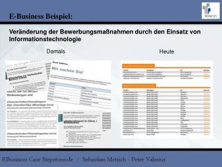 E-Business Beispiel :