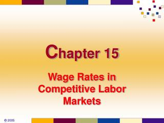 Wage Rates in Competitive Labor Markets