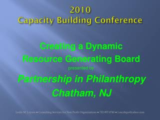 2010  Capacity Building Conference