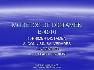 MODELOS DE DICTAMEN B-4010