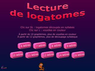 Lecture de logatomes