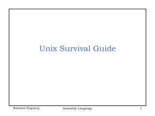 Unix Survival Guide