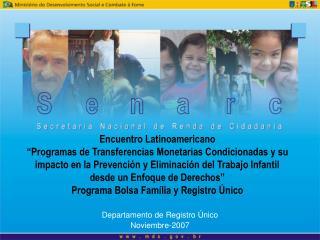Departamento de Registro Único Noviembre-2007