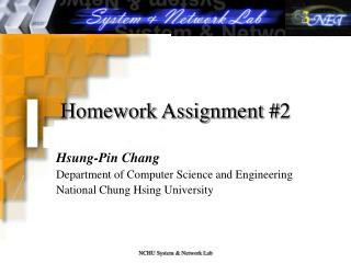 Homework Assignment #2