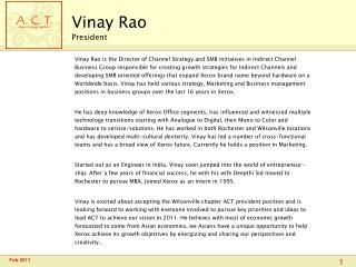 Vinay Rao President