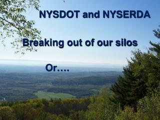 NYSDOT and NYSERDA