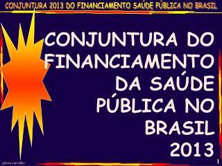 CONJUNTURA DO FINANCIAMENTO DA SAÚDE PÚBLICA NO BRASIL 2013