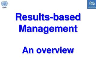 Results-based Management An overview