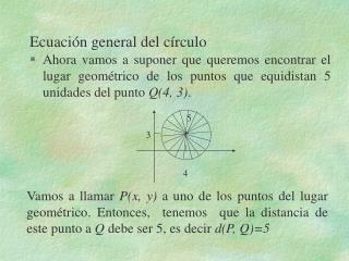 Ecuaci n general del c rculo