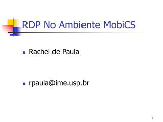 RDP No Ambiente MobiCS