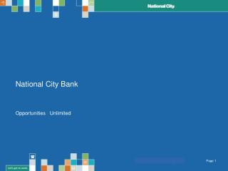National City Bank  Opportunities  |  Unlimited