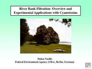 River Bank Filtration- Overview and Experimental Applications  with Cyanotoxins