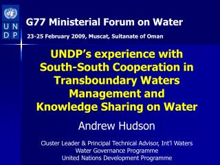 G77 Ministerial Forum on Water