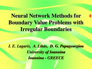 Neural Network Methods for Boundary Value Problems with Irregular Boundaries