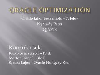 Oracle optimization