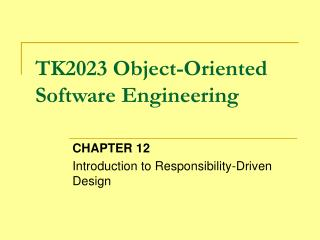 TK2023 Object-Oriented Software Engineering
