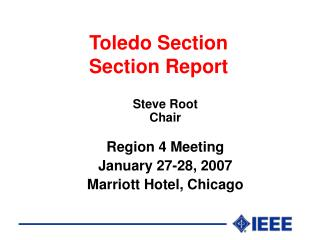 Toledo Section  Section Report