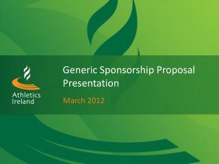 Generic Sponsorship Proposal Presentation