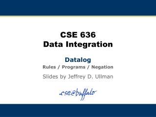 CSE 636 Data Integration
