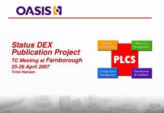 Status DEX Publication Project TC Meeting at  Farnborough  25-26 April 2007 Trine Hansen