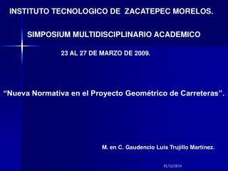 INSTITUTO TECNOLOGICO DE  ZACATEPEC MORELOS.