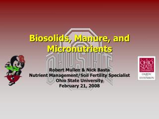 Biosolids, Manure, and Micronutrients