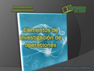 Elementos de investigación de operaciones