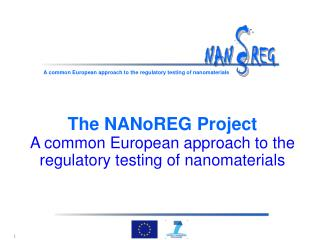 The NANoREG Project A common European approach to the regulatory  testing  of nanomaterials
