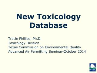 New Toxicology Database