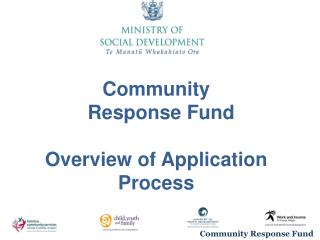 Community Response Fund Overview of Application Process