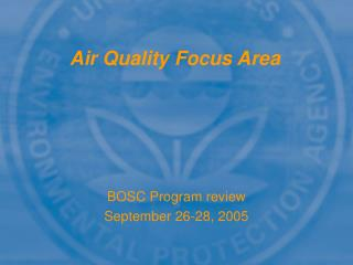 Air Quality Focus Area